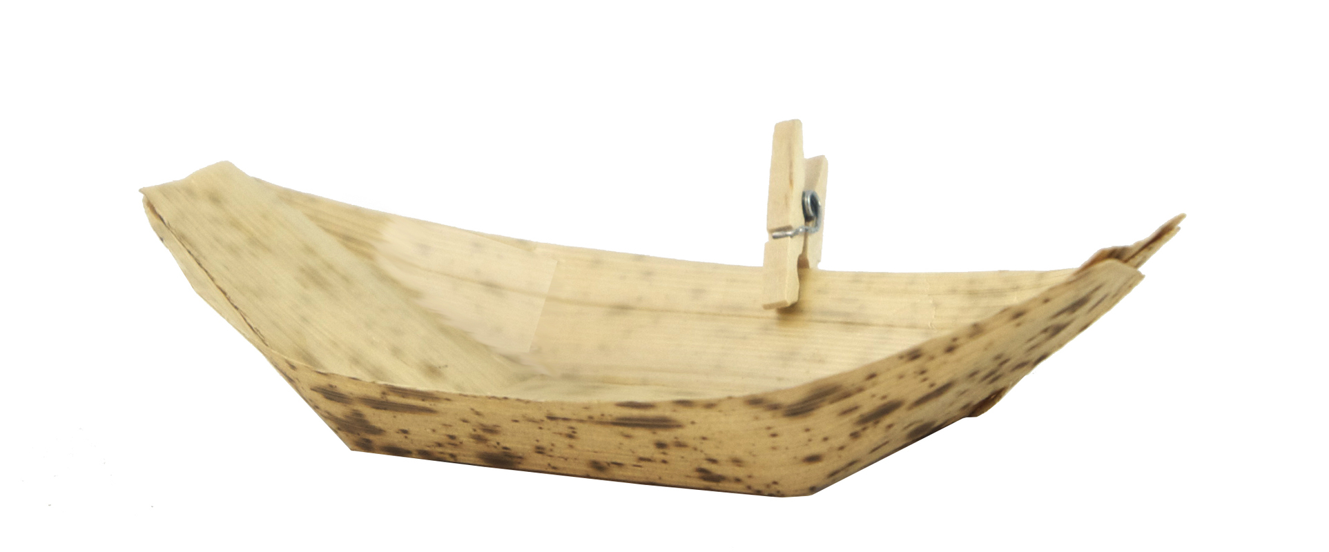 Bamboo Leaf Boat 1.5 oz - 3.7 x 2.1 x 0.6 in