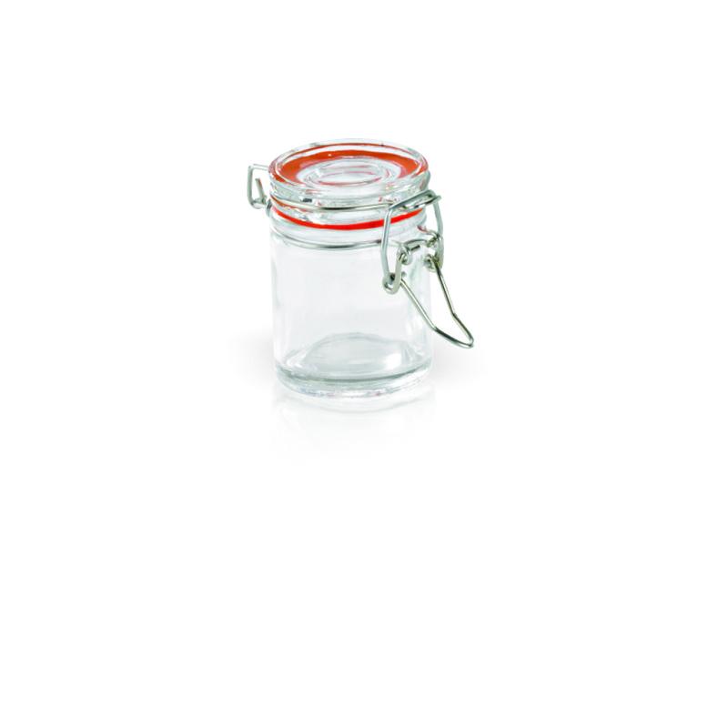 Clamp Lid Mini Glass Seal Jars - 1.5oz