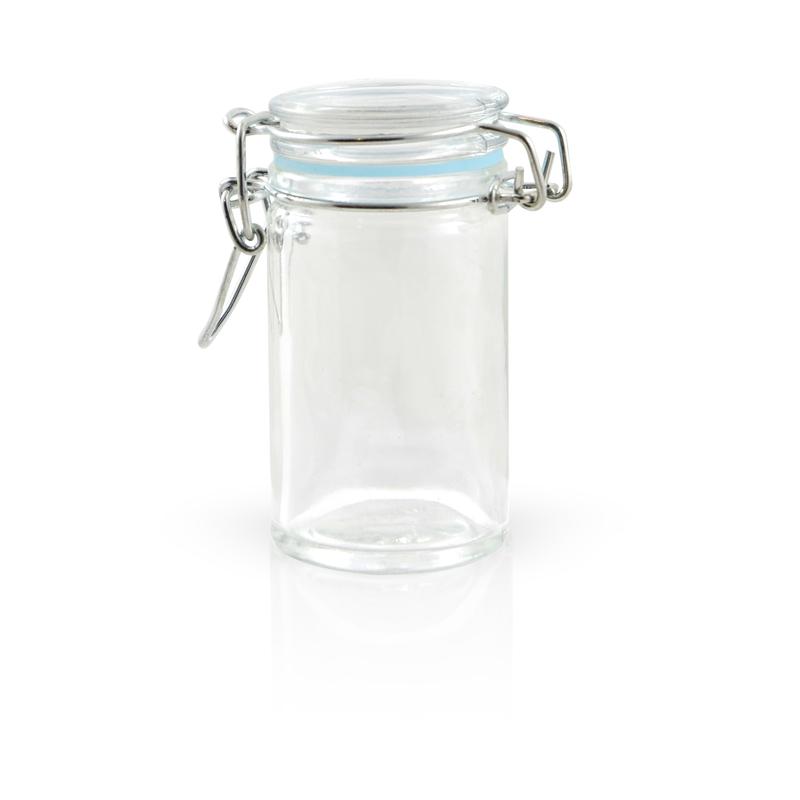 Clamp Lid Mini Glass Seal Jars - 2.2oz