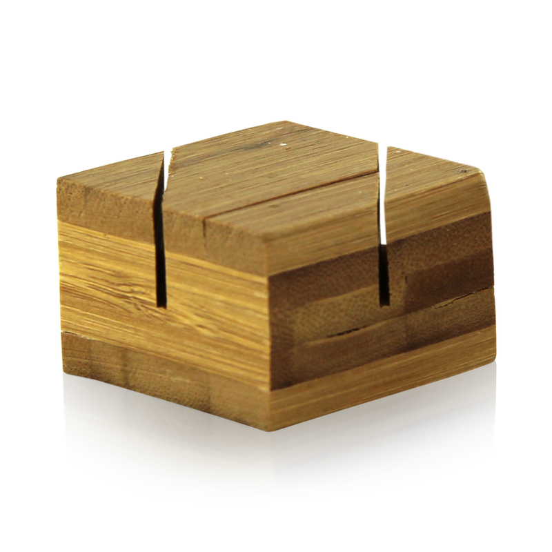 Bamboo Double Card Holder - 1.5 in.