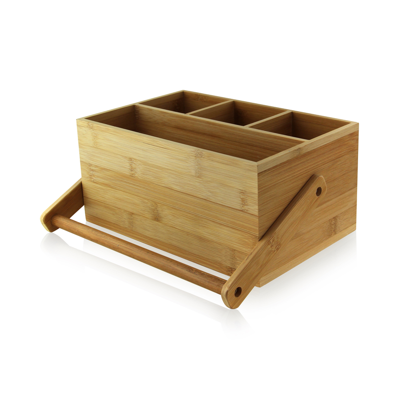 Bamboo Tool Box With Handle - 9 in.