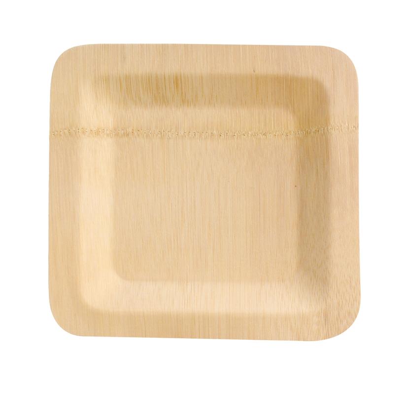 Bamboo Veneer Square Plate -9in