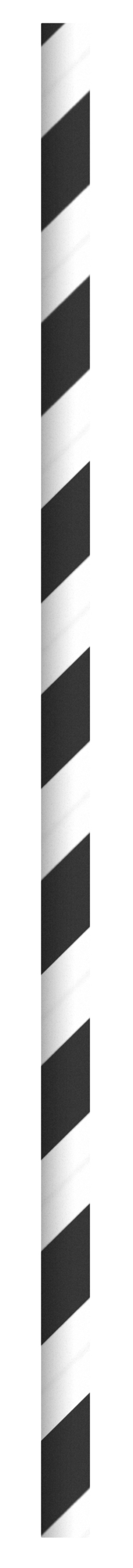 Durable Black & White Striped Cocktail Paper Straws - 5.7  Inches