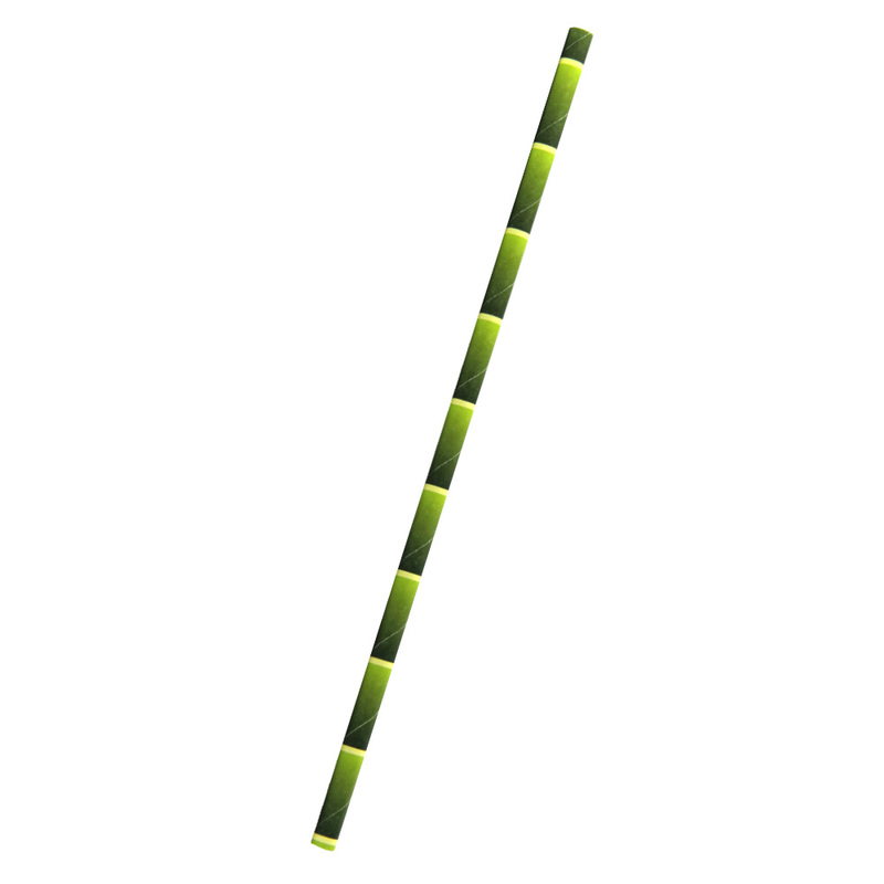 Durable Bamboo Designed Paper Straws - 7.75 Inches