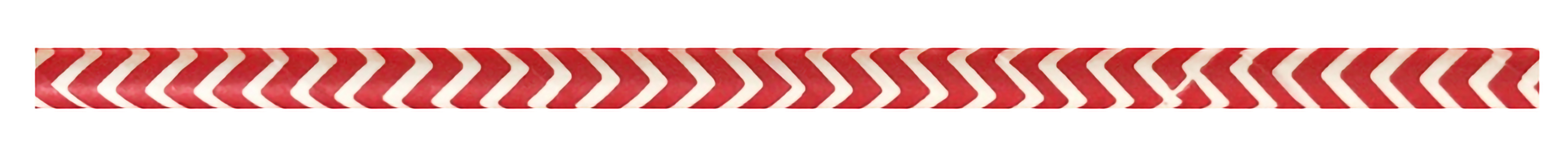 Durable Red & White Chevron Design Paper Straws - 7.75  Inches