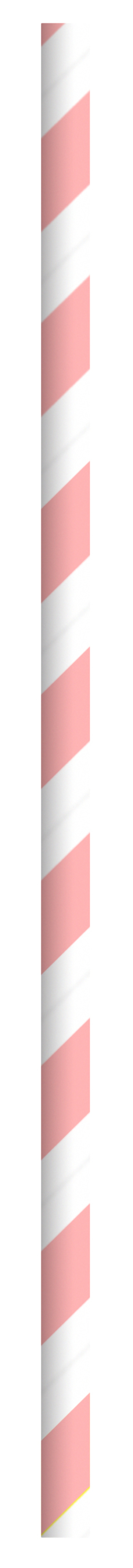 Durable Pink & White Striped Paper Straws - Individually Wrapped - 7.75 Inches