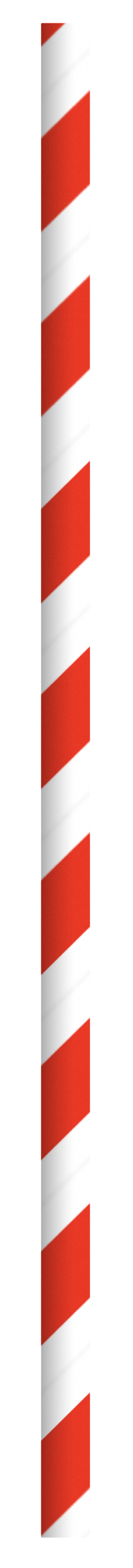 Durable Red & White Striped Paper Straws  - 7.75  Inches