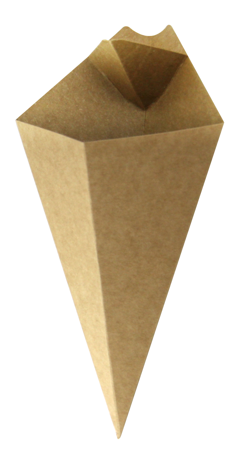 Kraft Paper Cone With Built-In Sauce Cup - 8.9 in.