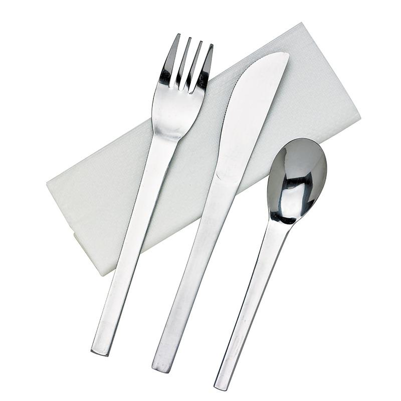 Stainless Steel Cutlety Kit 4/1 - Knife, Fork, Spoon, Napkin