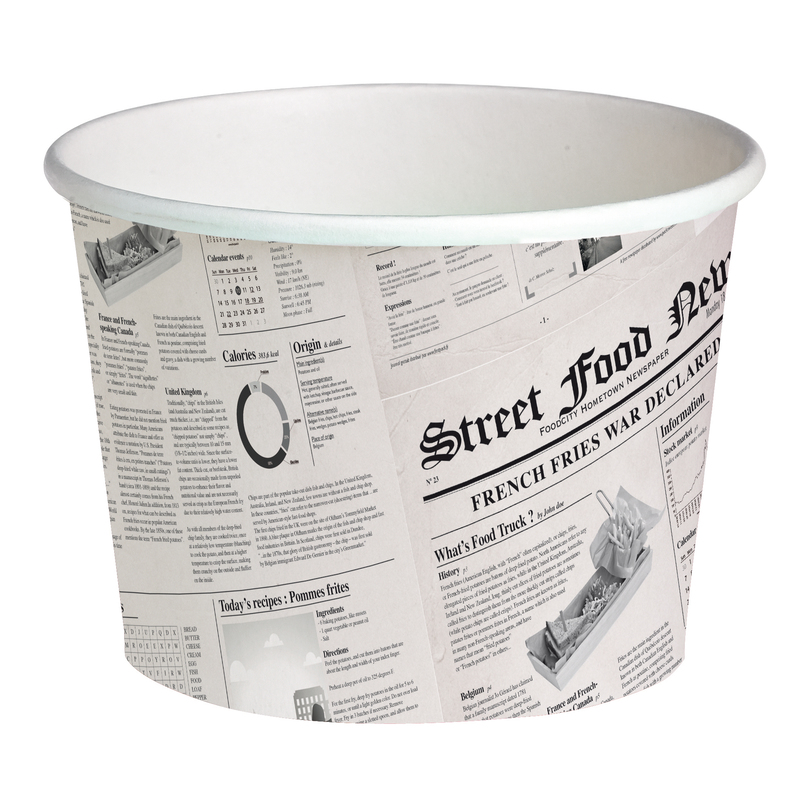 Deli News Printed Containers - 24oz