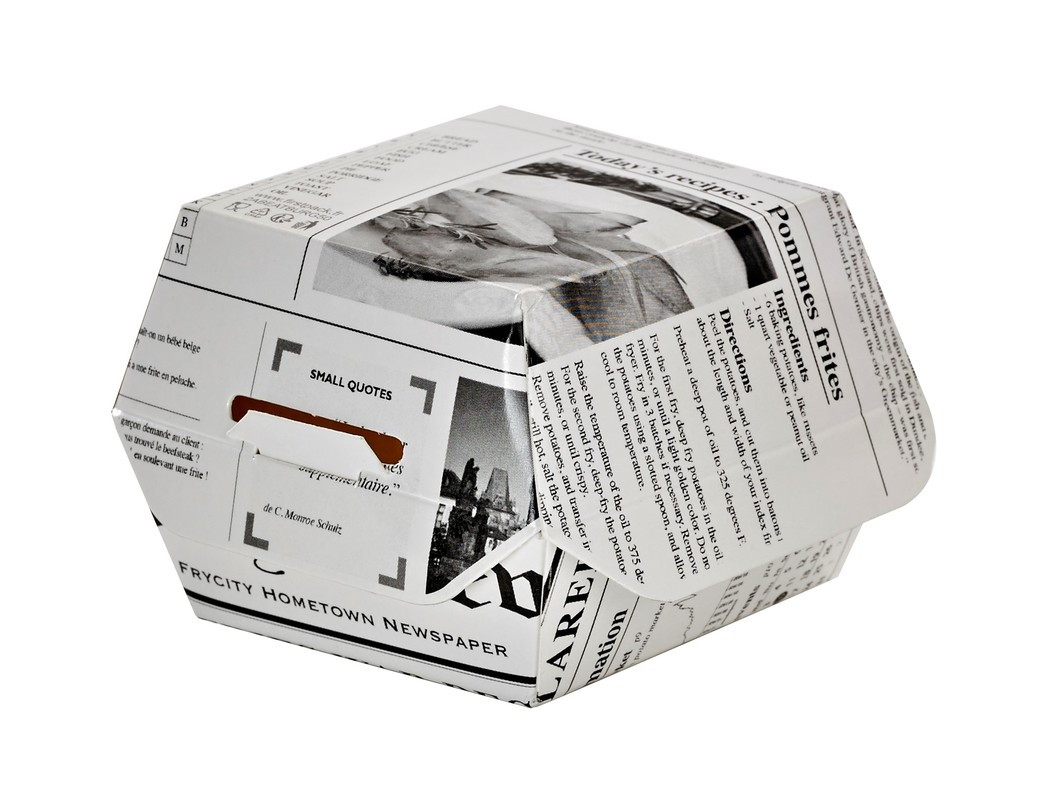 Newspaper Print Mini Slider Box - 2 oz 2.8 x 2.8 x 2 in