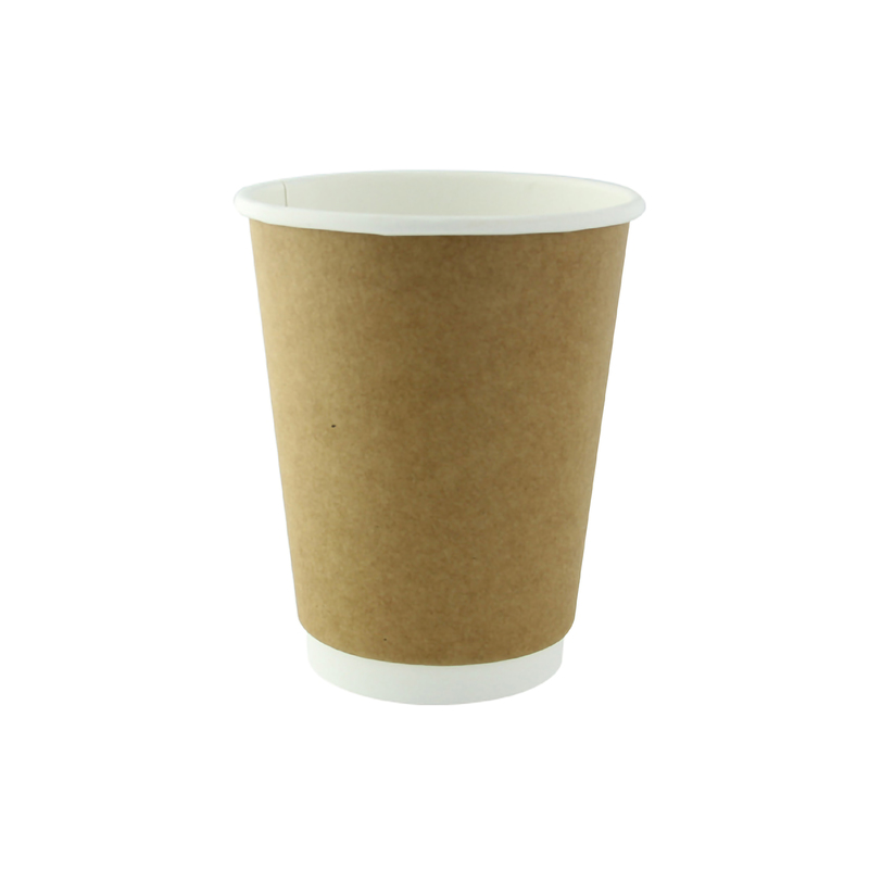 Kraft Double Wall Compostable Paper Cups - 10oz