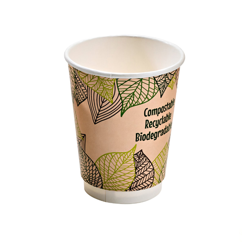 Double Wall Compostable Paper Cups - 10oz