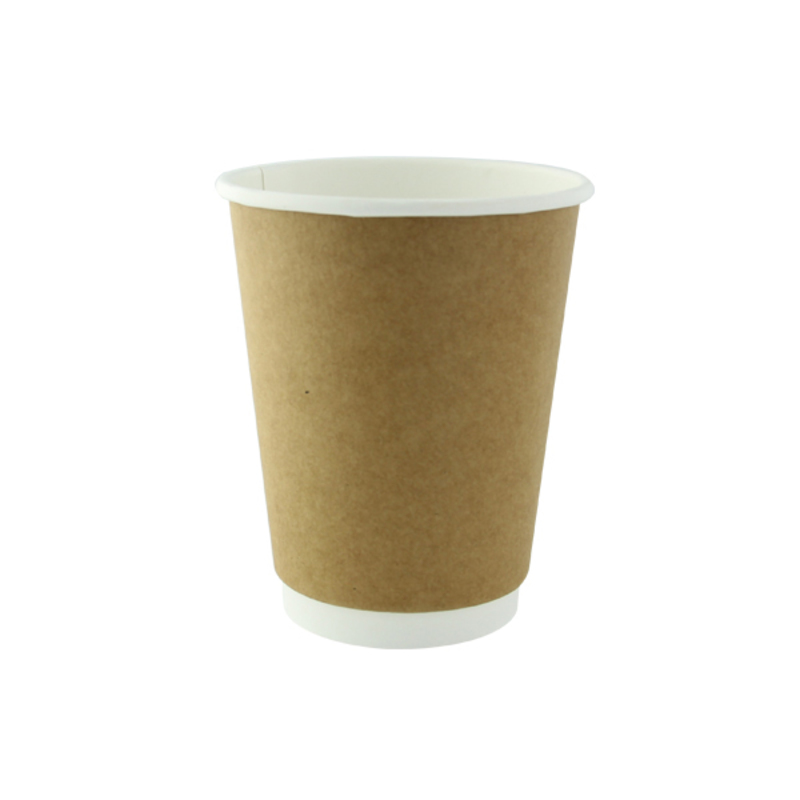 Kraft Double Wall Compostable Paper Cups - 12oz