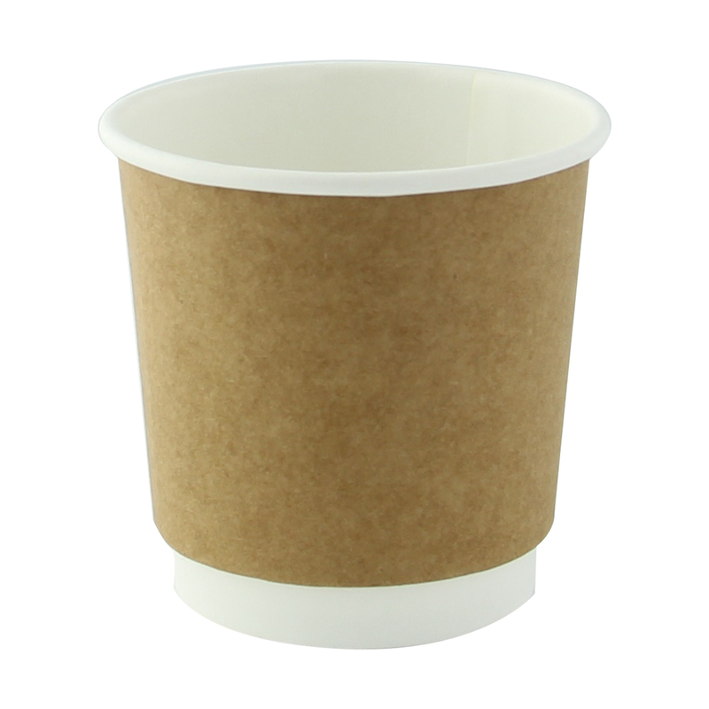 Kraft Double Wall Compostable Paper Cups - 4oz