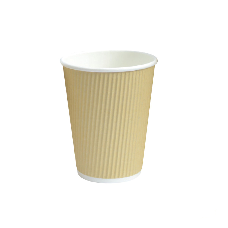 Rippled Beige Cups - 10oz