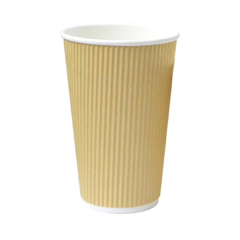 Rippled Beige Cups - 16oz  Dia: 3.5