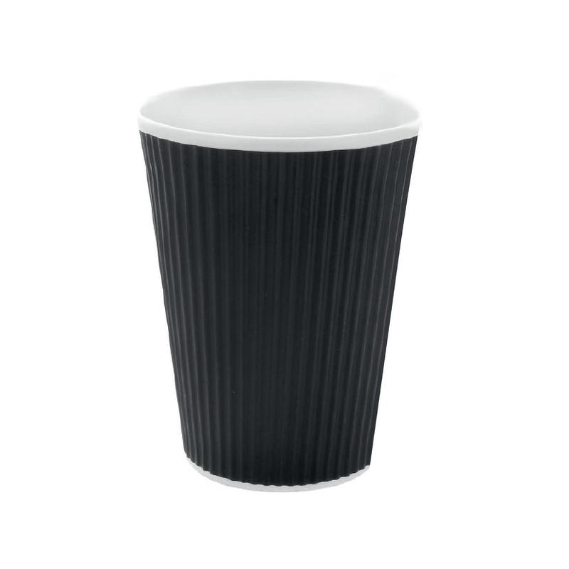 Black Rippled Cup 20oz
