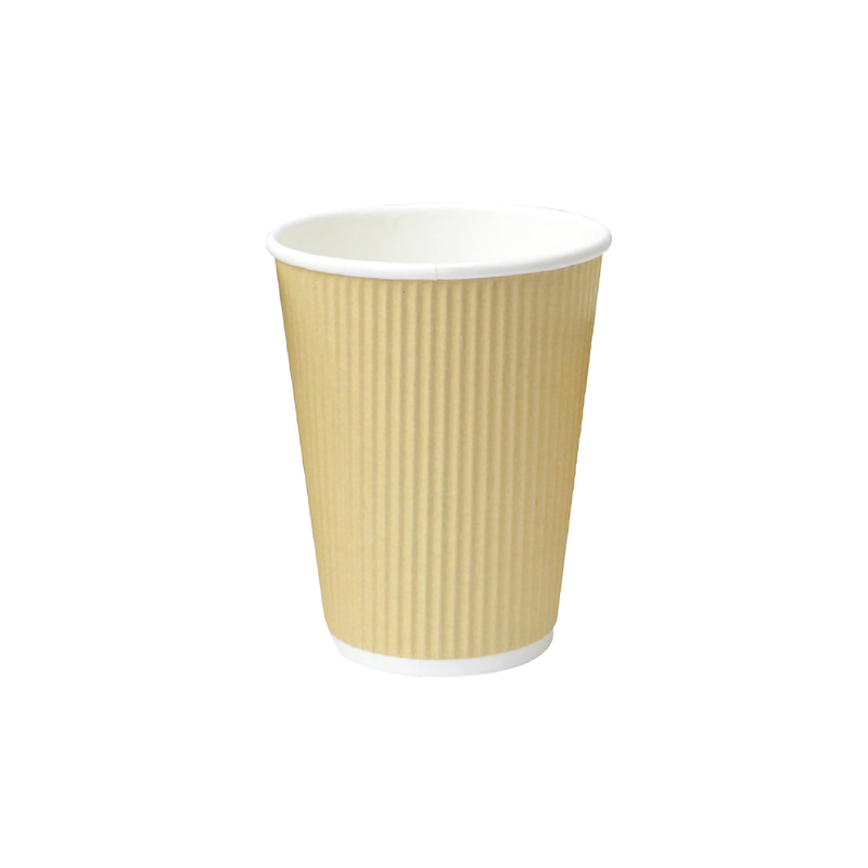 Rippled Beige Cups - 8oz Dia: 3.1