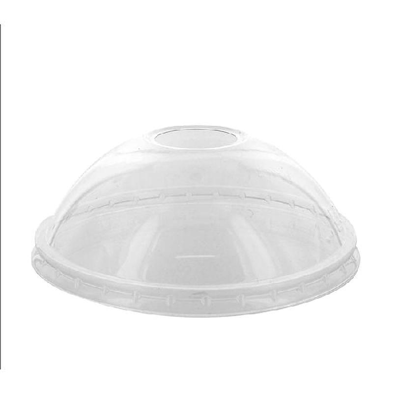 Clear PET Dome Lid - Fits all Size Deli News Buckets - Ø: 4.49 in Height/Depth: 3.25 in