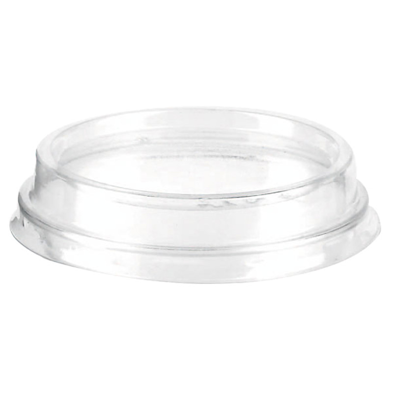 Clear Flat Plastic Lid Without Hole - Ø: 2.99 in