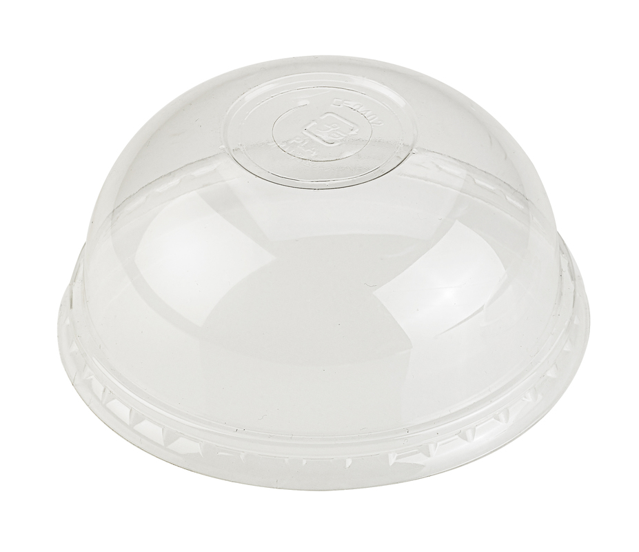 PLA Clear Dome Lid With Round Hole For 210GPLA300-560-670 - Ø: 3.7 in