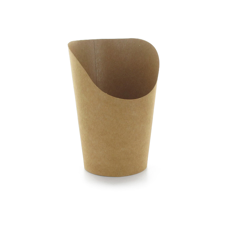 Kraft Wrap Cups 5.5 oz H: 4.7 in x Ø: 3 in