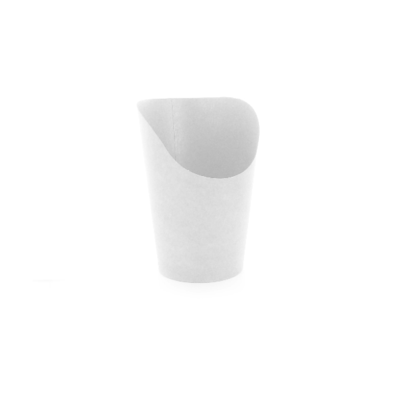 White Wrap Cup - 5.5oz - H: 4.7 in.