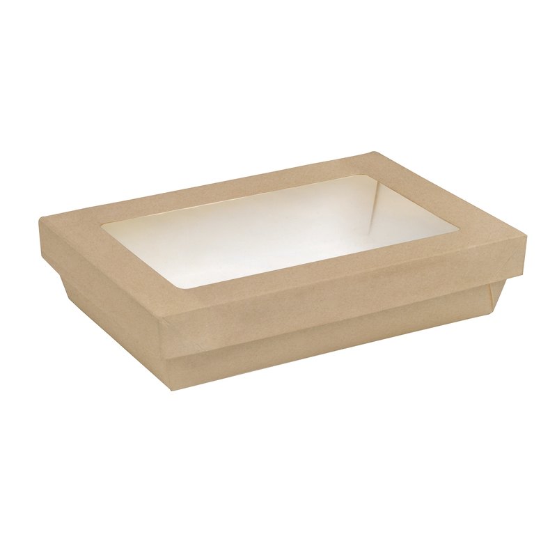 Brown Rectangular Kray Box With Window - 8.9 x 6.1 in.