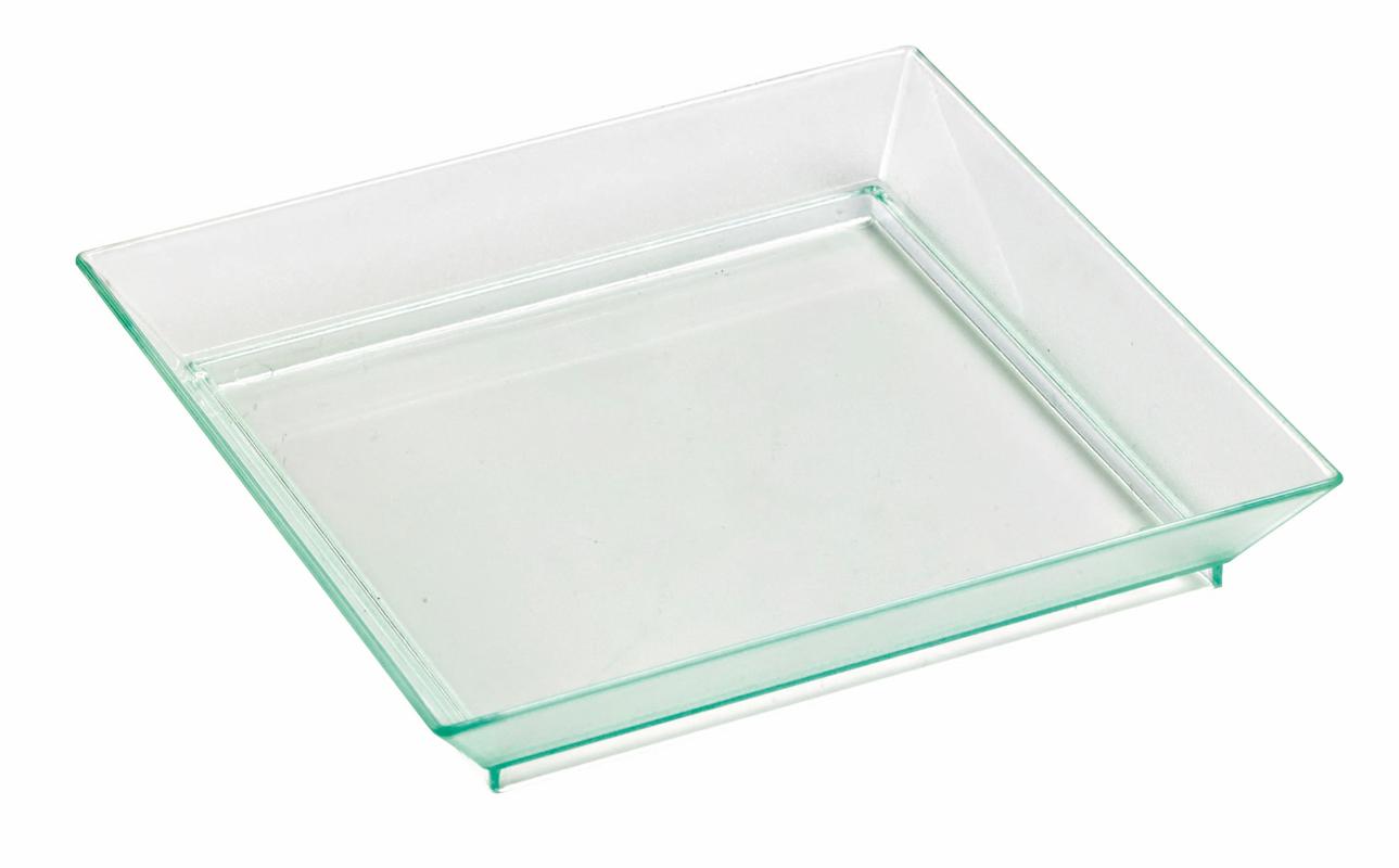 Square Mini Transparent Dish - 4 in.