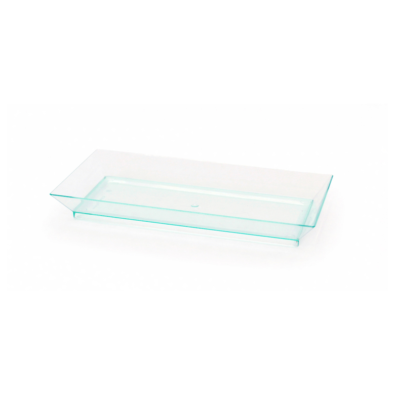 Rectangular Transparent Green Klarity Dish - 5.3 x 2.5 in.