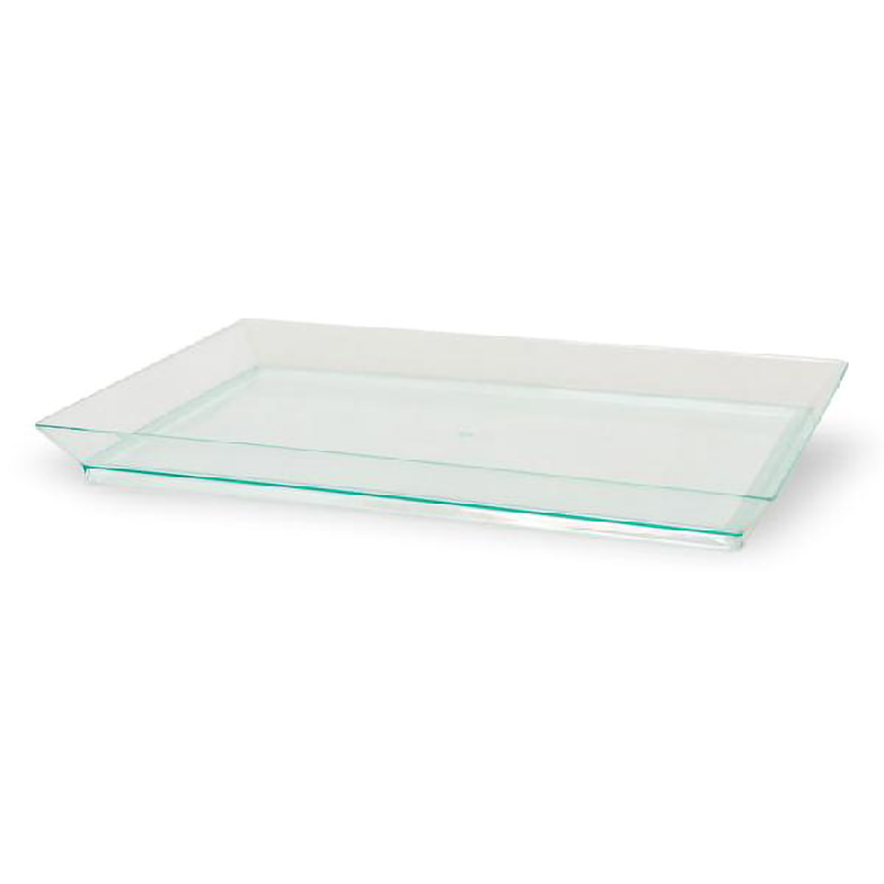 Klarity Rectangular Transparent Green Dish -  L:7.08 x W:5.1 x H:.6in