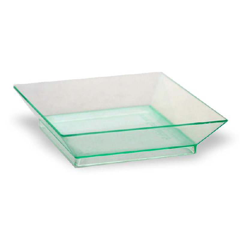 Square Transparent Green Klarity Dish - 2.5 in.