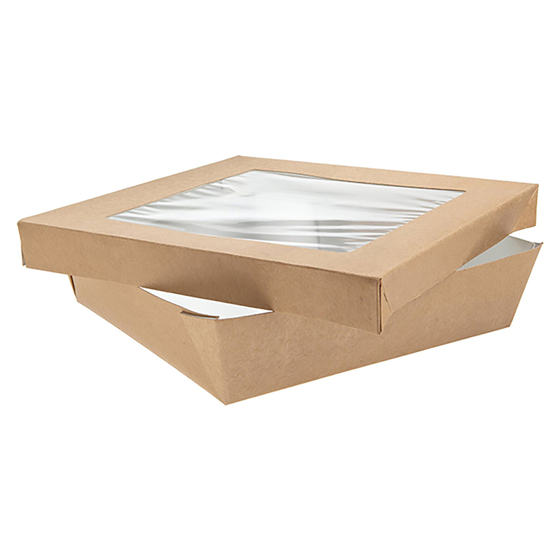 Square Kray Box With Window - 7.1 x 2 in. 60oz