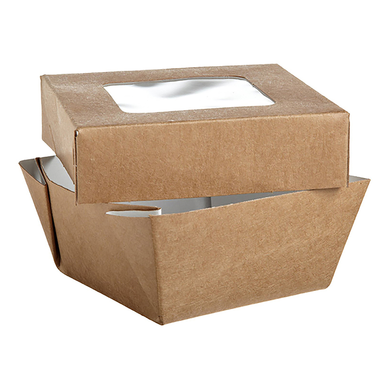 Small Square Kray Box With Window - 2.8 x 1.6 in.