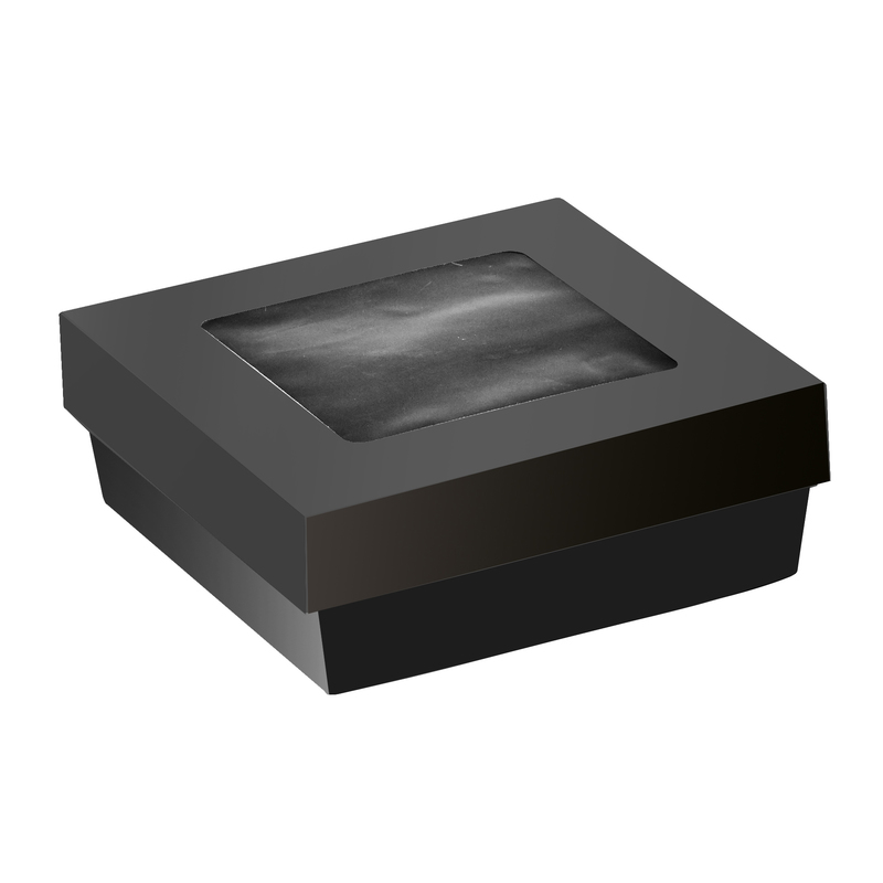 Bakeable Black Kray Box With Lid - 22 oz - 4.7 in.