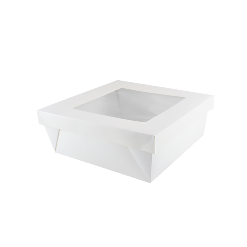 Square White Kray Box With Window - 7.9 x 3.2 in.