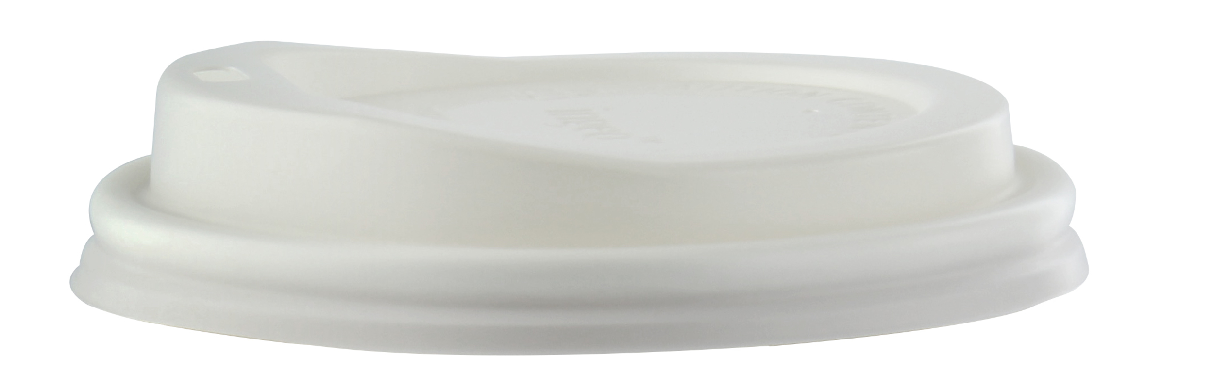 CPLA (Made from Cornstarch & Composable) Coffee Cup Lids for 8oz.