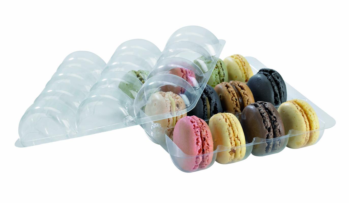 Rectangular Insert for 12 Macarons (3 x 4) 6 x 5.4 x 0.8 in