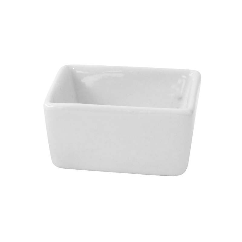 Mini White Porcelain Cubic Bowl 2 x 2 x 1