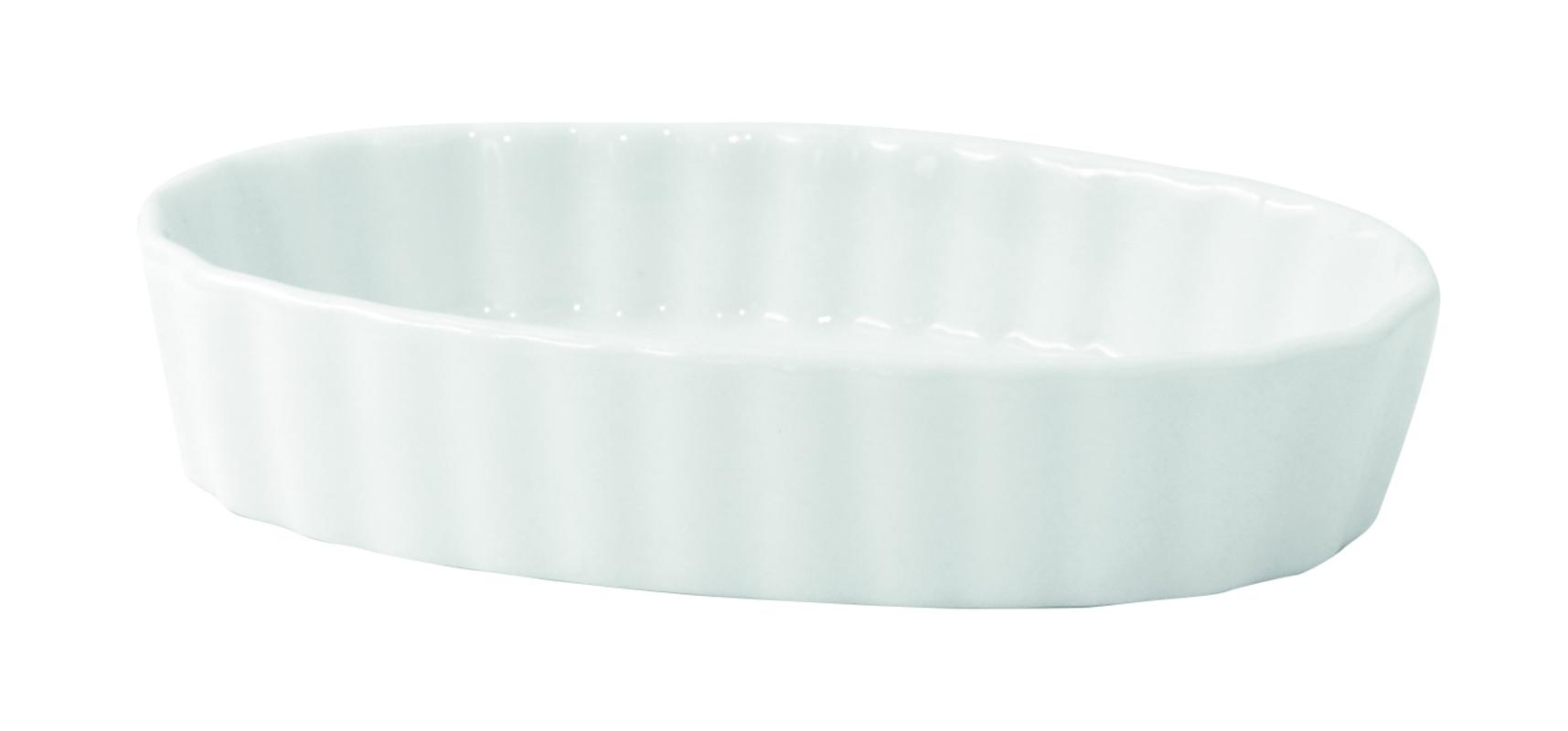Mini White Porcelain Oval Dish - 2 oz