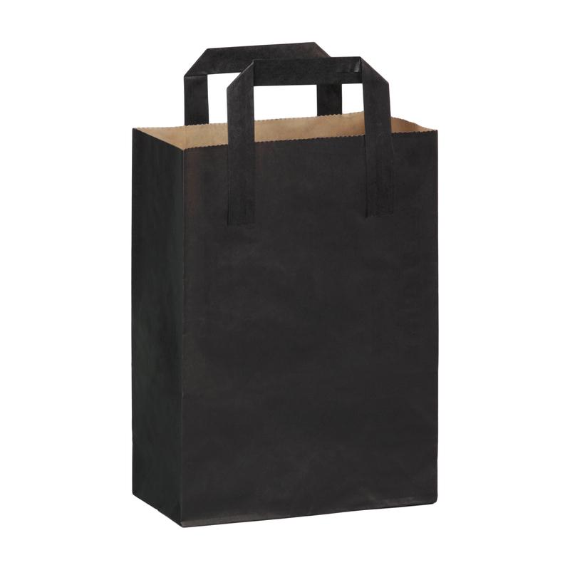 Black Mini Carry Bag 6.85 x 3.7 x 8.9