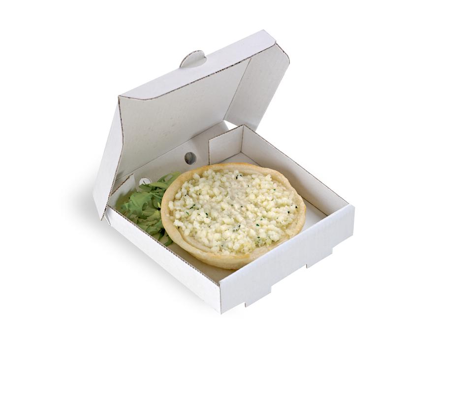 Mini Cardboard Pizza Box 3.5 x 3.5 x 0.8 in