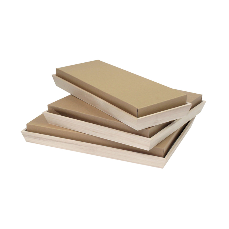 Kraft Cardboard Lid for 210WOODTRAY39 -  L:15.05 x W:11.9 x H:2.3in