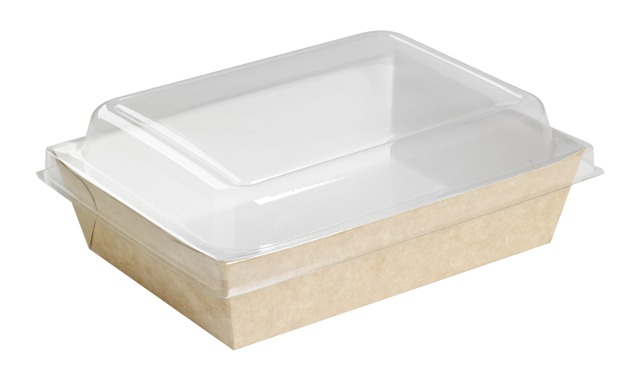 Brown Paper Salad Box 28 oz 9 in x 6.5 in x 1.5 in