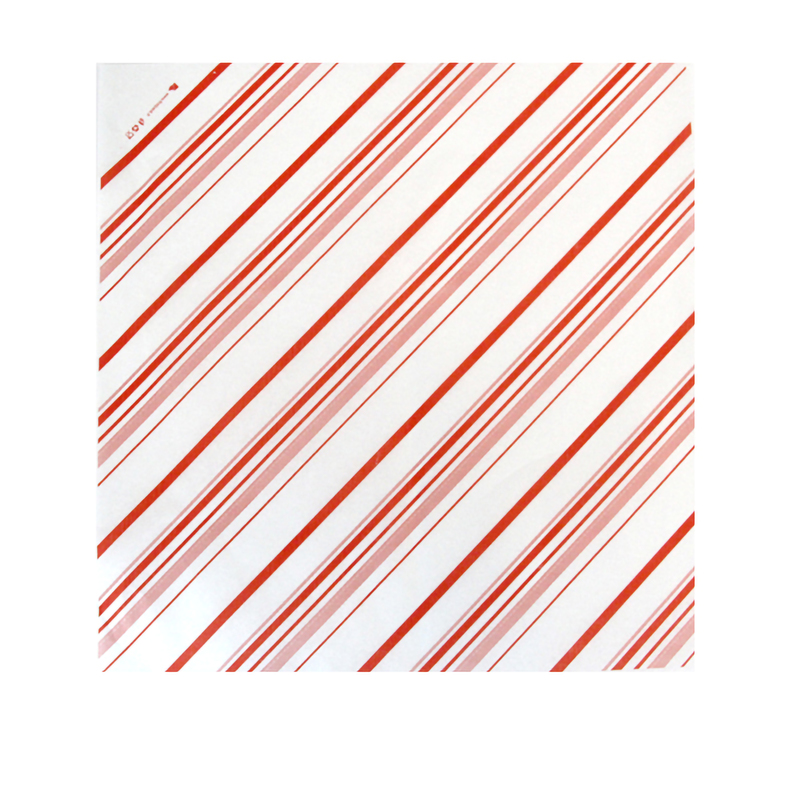 White Paper With Red Decoration - 12.6 in.