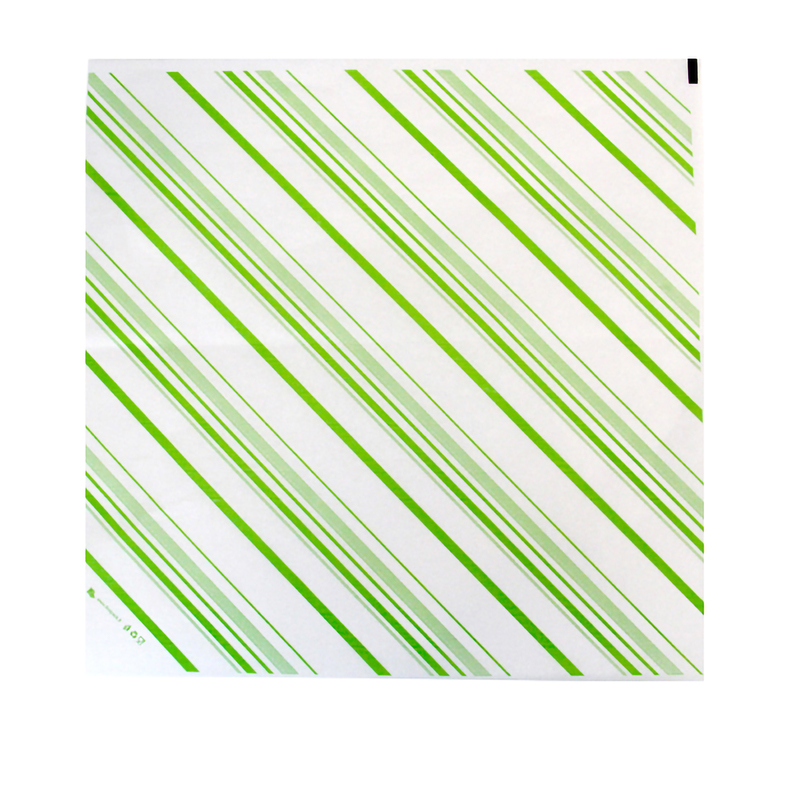 White Paper With Green Decoration - 12.6 in.