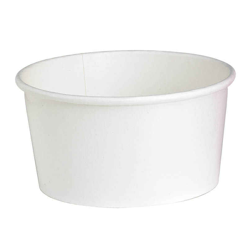 ''Buckaty'' Round White To Go Container 30 oz Ø: 5.9 in H: 3 in