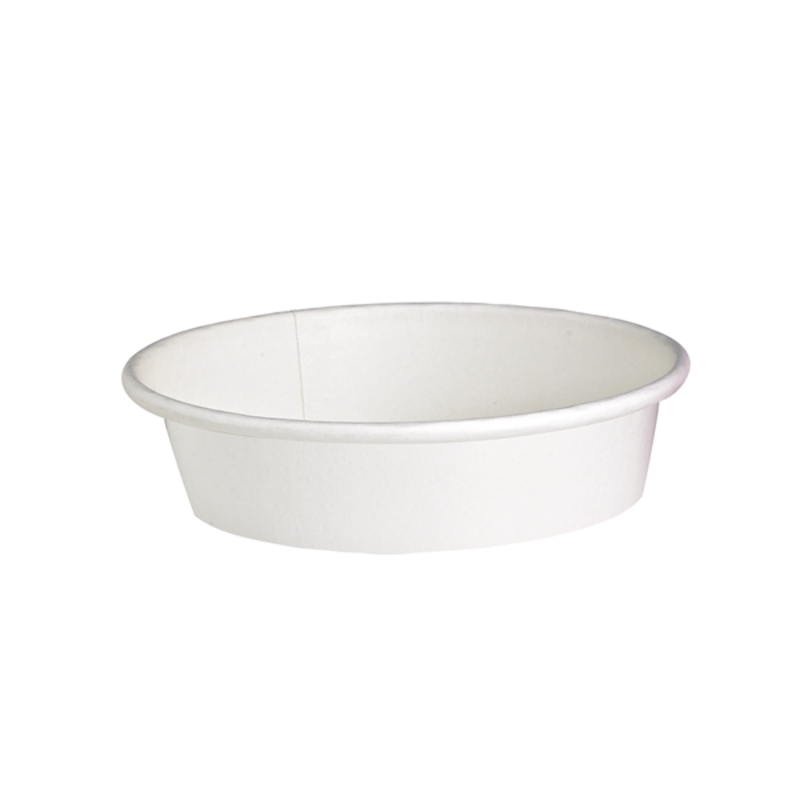 ''Buckaty'' Round White To Go Container 16 oz Ø: 5.9 in H: 1.8 in