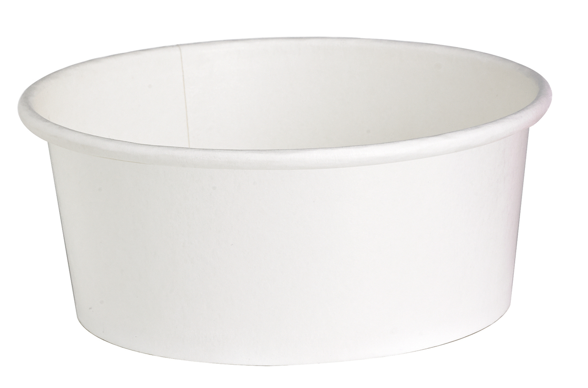 ''Buckaty'' Round White To Go Container 24 oz Ø: 5.9 in H: 2.4 in